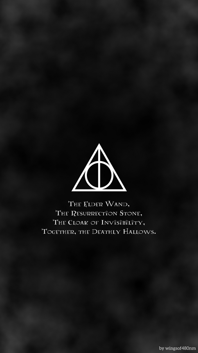 HP Minimalist Background-- Deathly Hallows by 480nm on ...