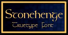 Stonehenge Truetype Font by drankinatty
