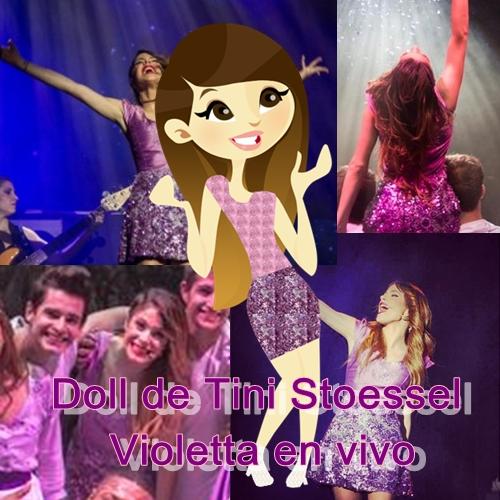 Doll de Tini Stossel violetta en vivo by RochiTinita