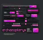 Archaeopteryx Free UI KIT (pink color morph)