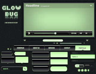 Glowbug - a FREE vector UI Kit by scott-the-stampede
