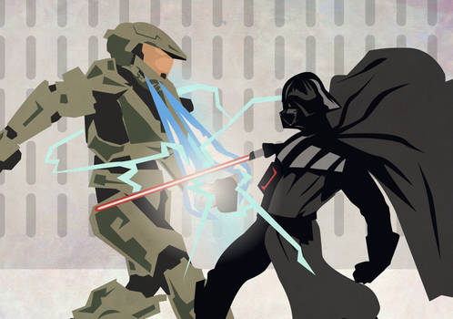 Halo vs Starwars Master chief takes on Darth Vader
