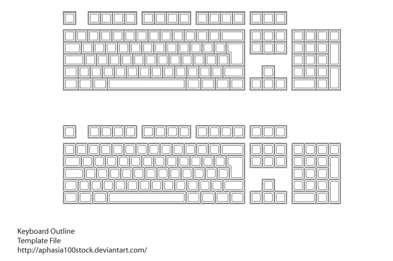 Keyboard Layout Source File by aphasia100stock on DeviantArt