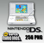 Nintendo ds lite with mario