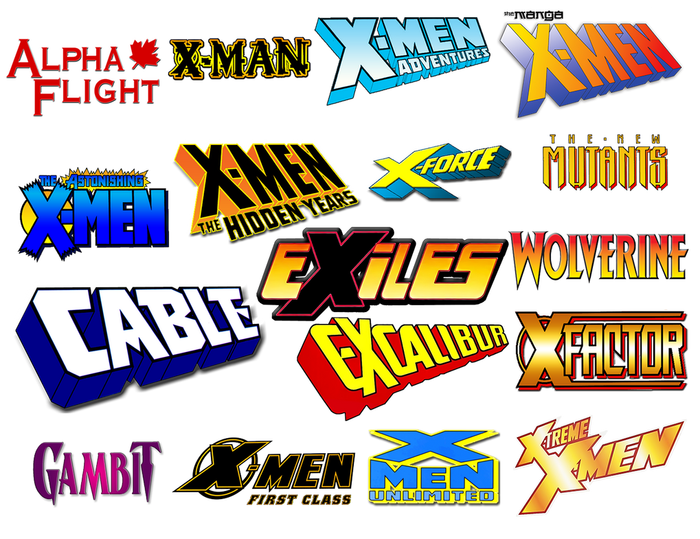 X-Men Comic Logo Icons Vol 1 by Meganubis