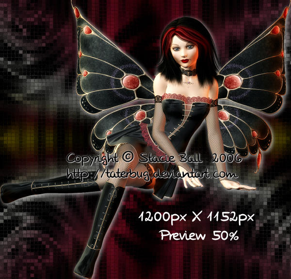 Gothic fae PSD by taterstock