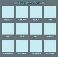 2013 Summary of Art MEME PSD by ThePlaneWidgeon