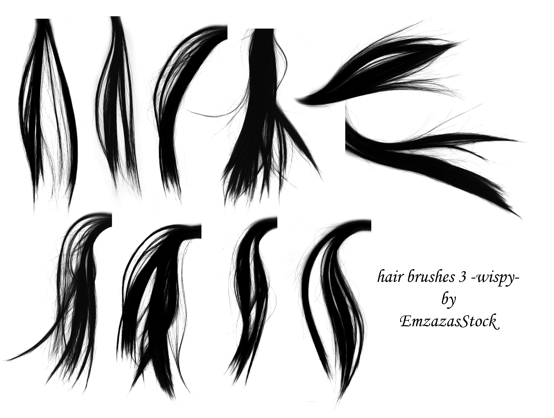 hair brushes 2 -wispy- by EmzazasStock on DeviantArt