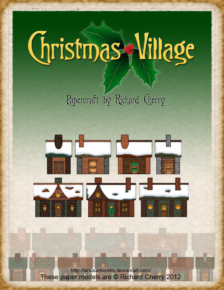 Christmas Village by SiriusArtWorks