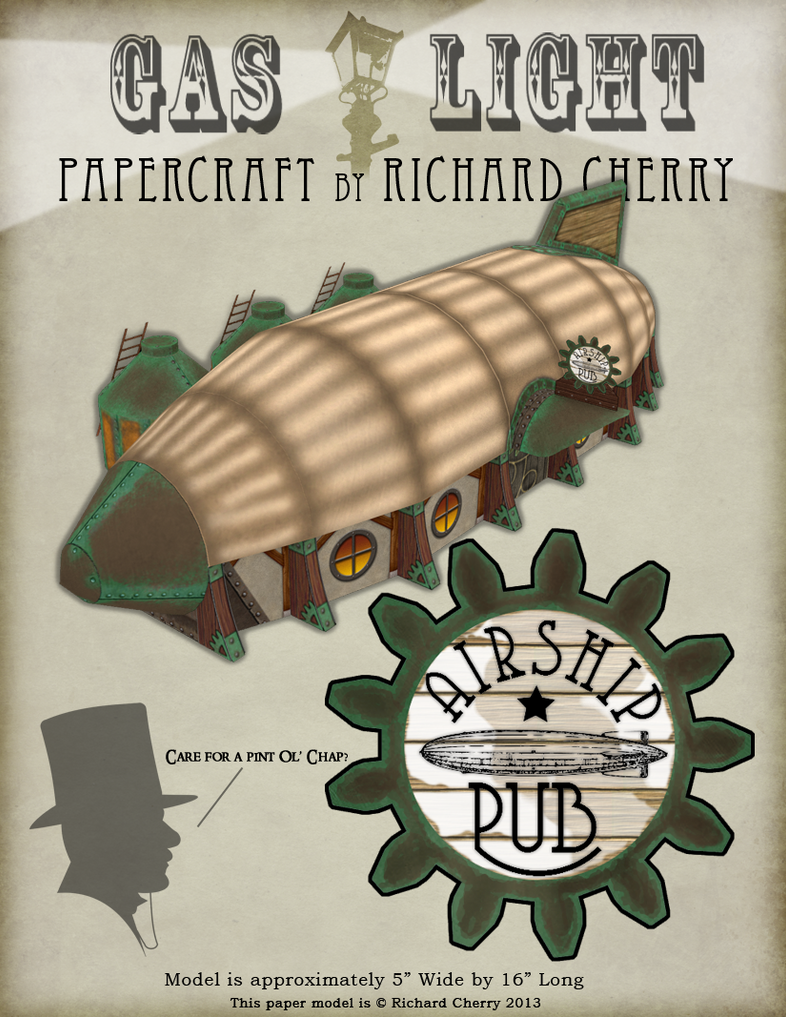 Airship Pub Papercraft by SiriusArtWorks