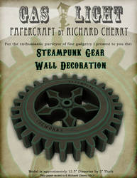 Steampunk Wall Gear Paper Model