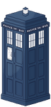 TARDIS Pixel by DominickLuhr