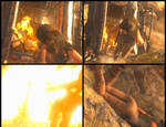 Lara Croft blown away by an explosion [ GIF ] by Rasausa