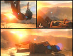 Lara Croft falls and lays in agony [ GIF ] by Rasausa