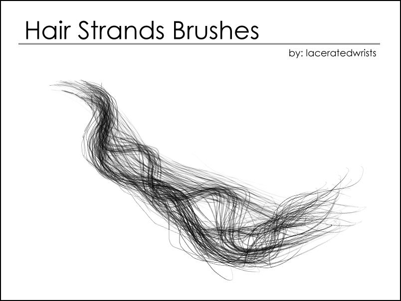 Hair Strands Brushes By Laceratedwristsstock On Deviantart