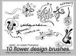 10 flower design brushes