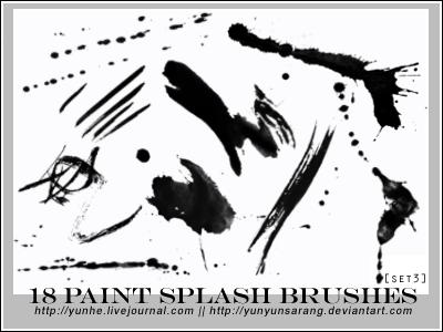 18 paint splash brushes by yunyunsarang