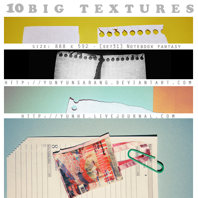 10 big textures - notebook by yunyunsarang