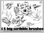 15 big scribble brushes