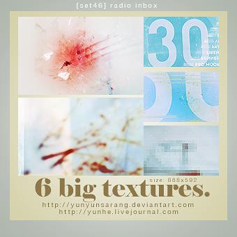 6 big textures - radio inbox by yunyunsarang