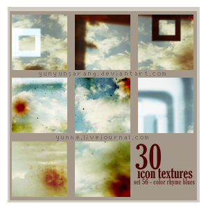 30 icon textures - color rhyme by yunyunsarang