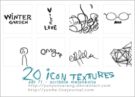 20 icon textures - scribble by yunyunsarang