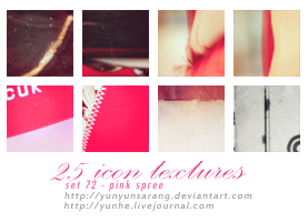 25 icon textures - pink spree by yunyunsarang