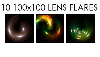 100x100 lens flares