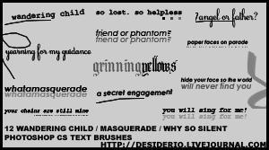 12 Photoshop CS Text Brushes