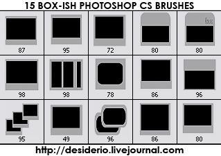 15 Photoshop CS Boxish Brushes