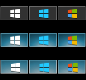 Windows 8 AeroByDesign Start Orbs Small by Dead4me