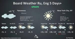 Board Weather Ru, Eng 5 Days+ by DemchaAV