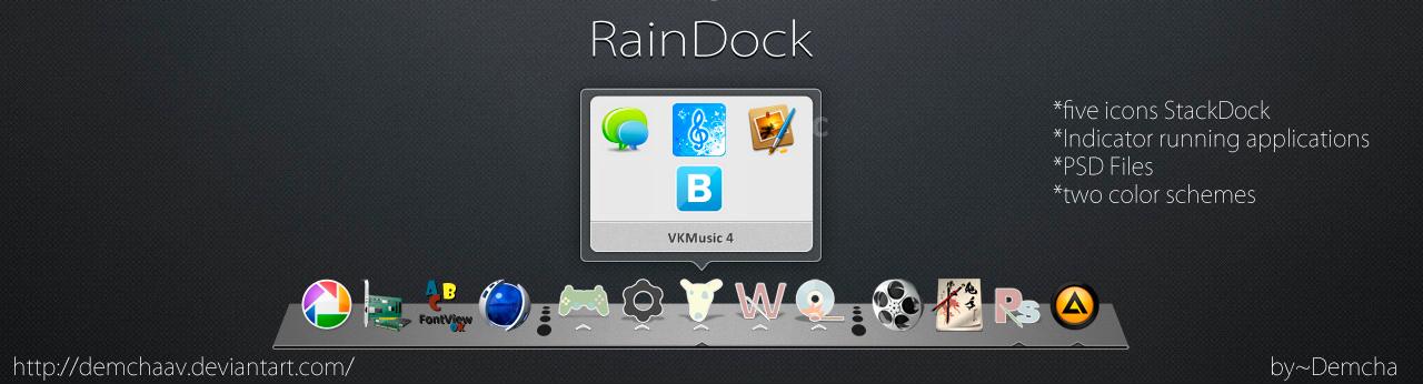 RainDock with Stacks Docklet by DemchaAV