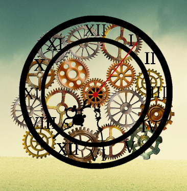 Steampunk Clock Conky by Uchigokun