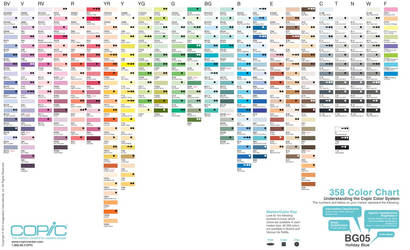 358 copic color set for Manga Studio 5