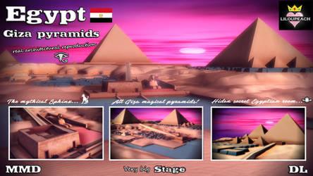 Egypt Giza pyramids Stage MMD DL