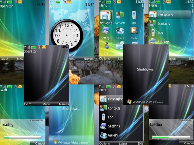 New icons (from the original Vista), new highlighted bars, new backgrounds