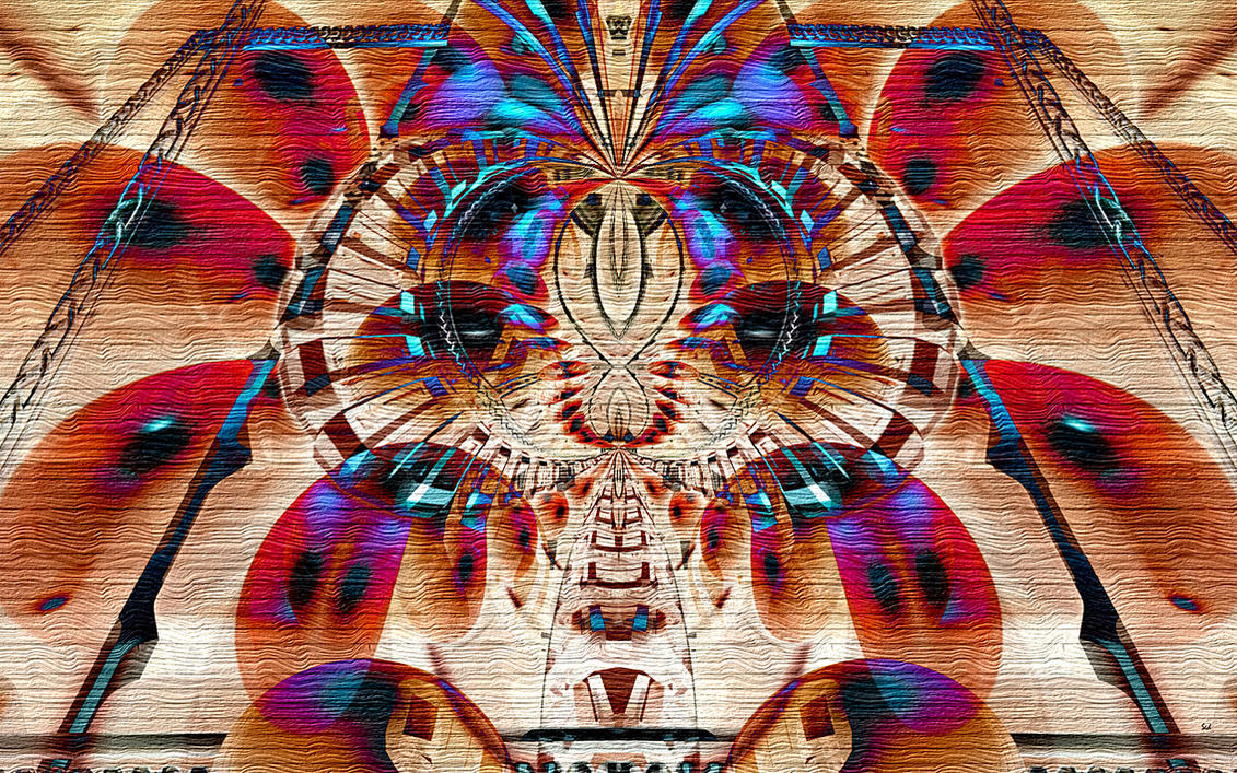 DeZign Cherokee on wood by sed