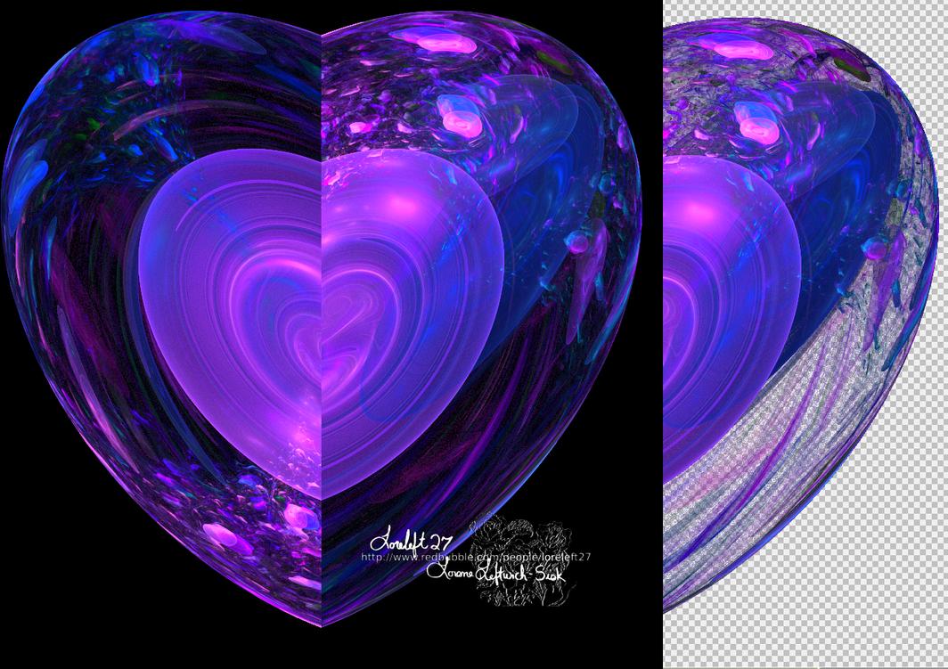crystal heart tutorial by loreleft27