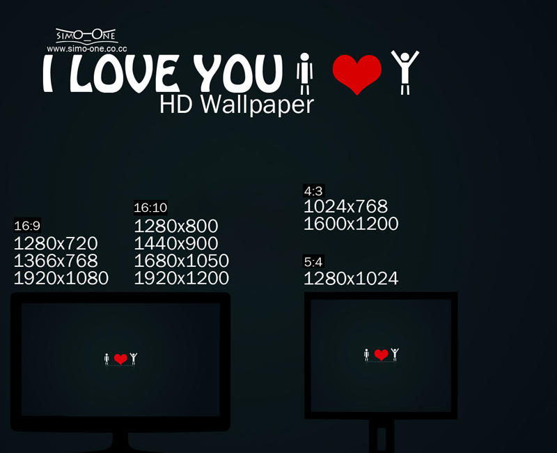 I love you hd wallpaper by simo one on deviantart i love you hd wallpaper by simo one thecheapjerseys Choice Image