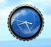 Alienware Blue clock by rodfdez