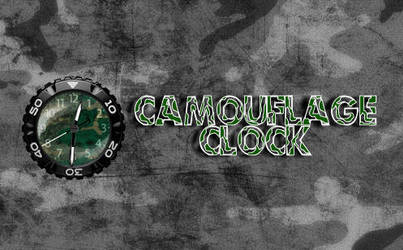 Camouflage Clock by rodfdez