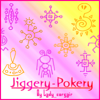 JiggeryPokeryFont Icon Brushes by flowersfollowed