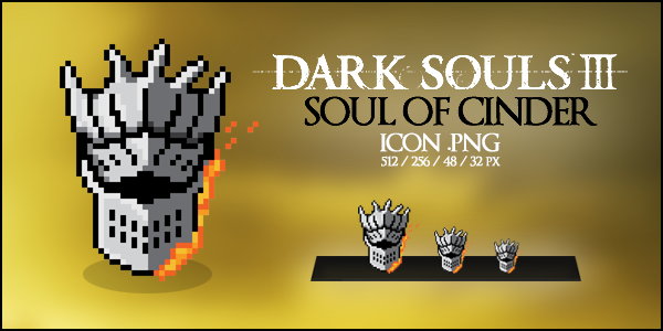 Dark Souls III - Soul of Cinder Icon by Naivsan