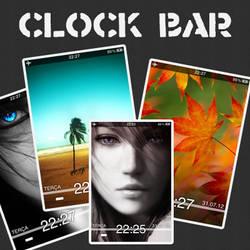 Iphone's Lockscreen - Clock Bar by TrinityStudiosBR