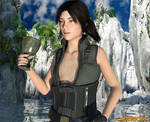 Tomb Raider Breast Expansion (GIF)