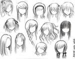 Manga Hair brush set