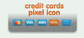 Credit Card Pixel icons by ncus