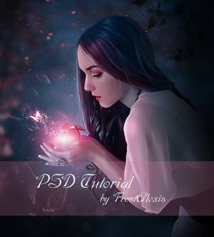Shattered Fairytale PSD free tutorial