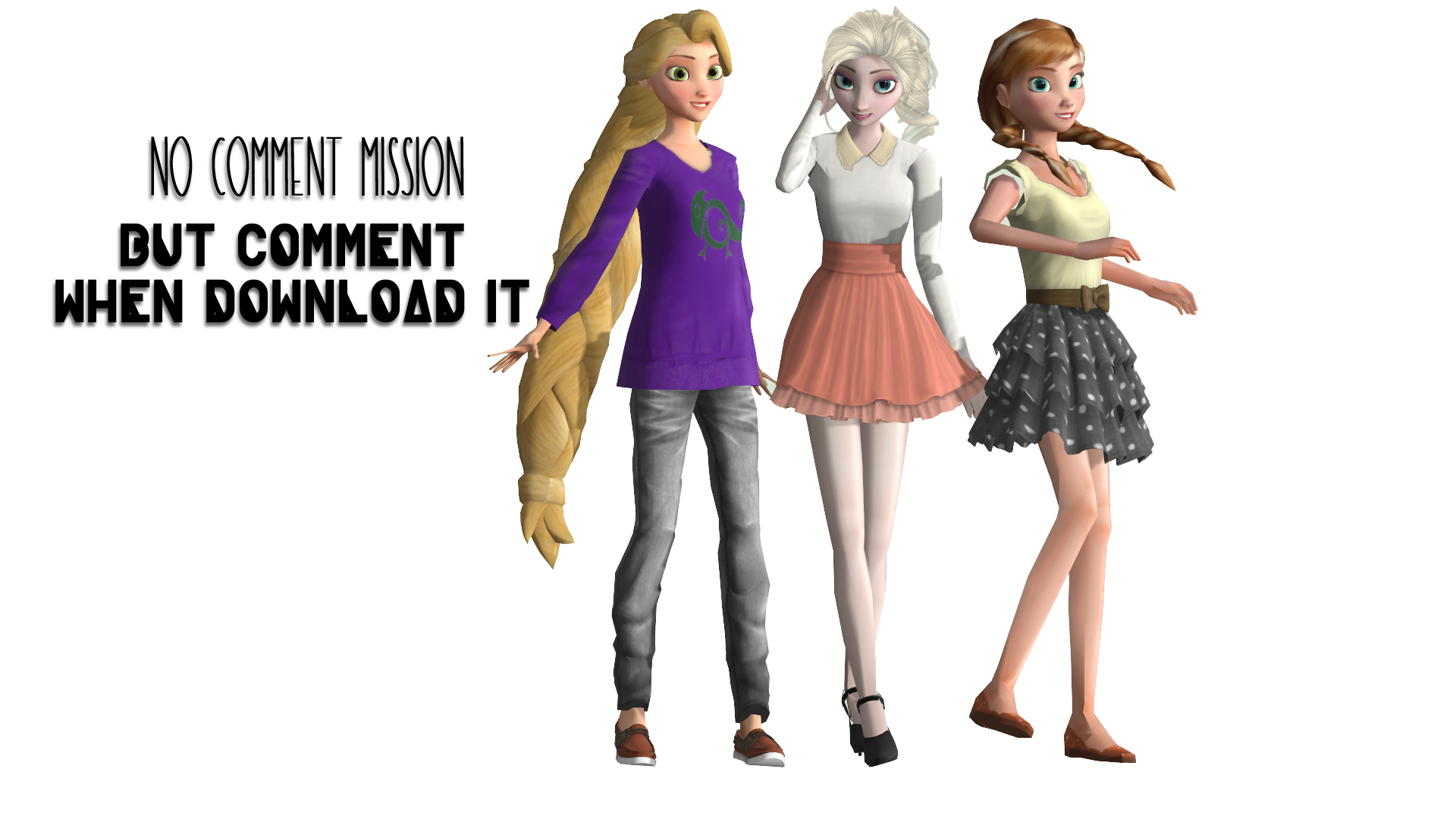 MMD Modern Rapunzel Elsa And Anna Download By Katsura Chan72 On DeviantArt